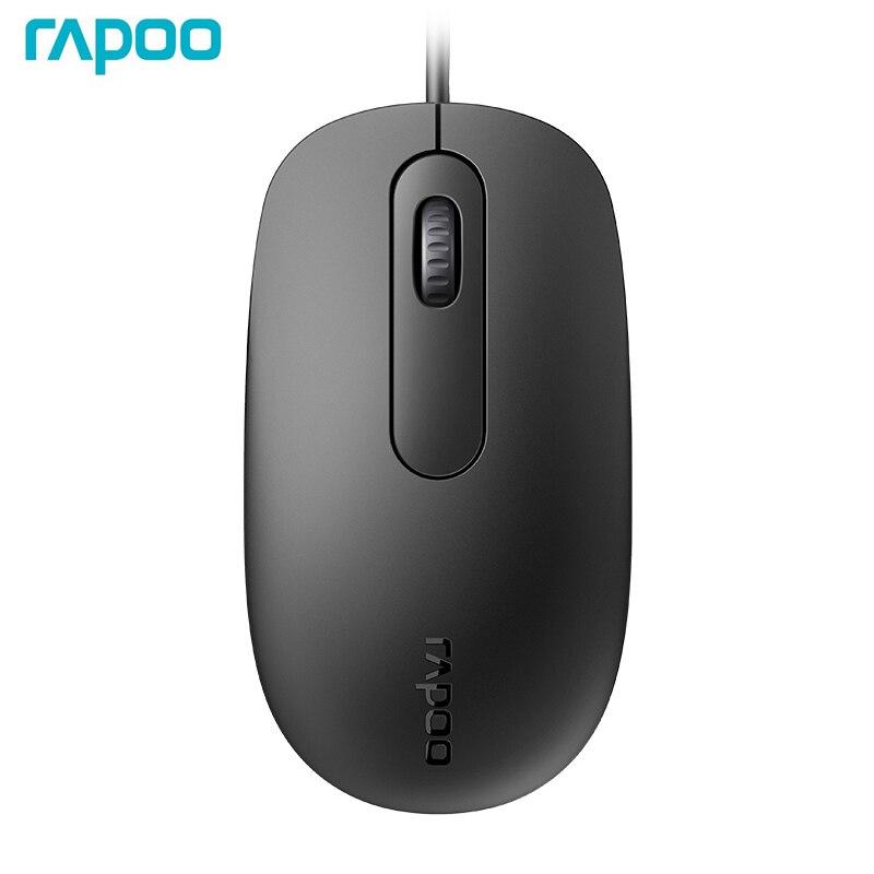 Neue Rapoo N200 Verdrahtete Optische Gaming Büro Maus mit 1000DPI Für PC Computer Home Office