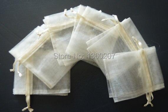 100 piunids/lote bolsas de Organza de color marfil 30x40 cm bolsa de regalo de boda bolsas de joyería