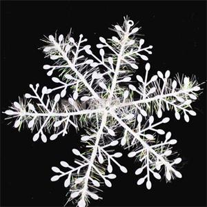 TPXCKz, 15 unids/lote, ornamento de copos de nieve de Navidad, ventana de árbol de plástico blanco y nieve artificial, decoración para fiestas, REGALOS FESTIVOS para niños
