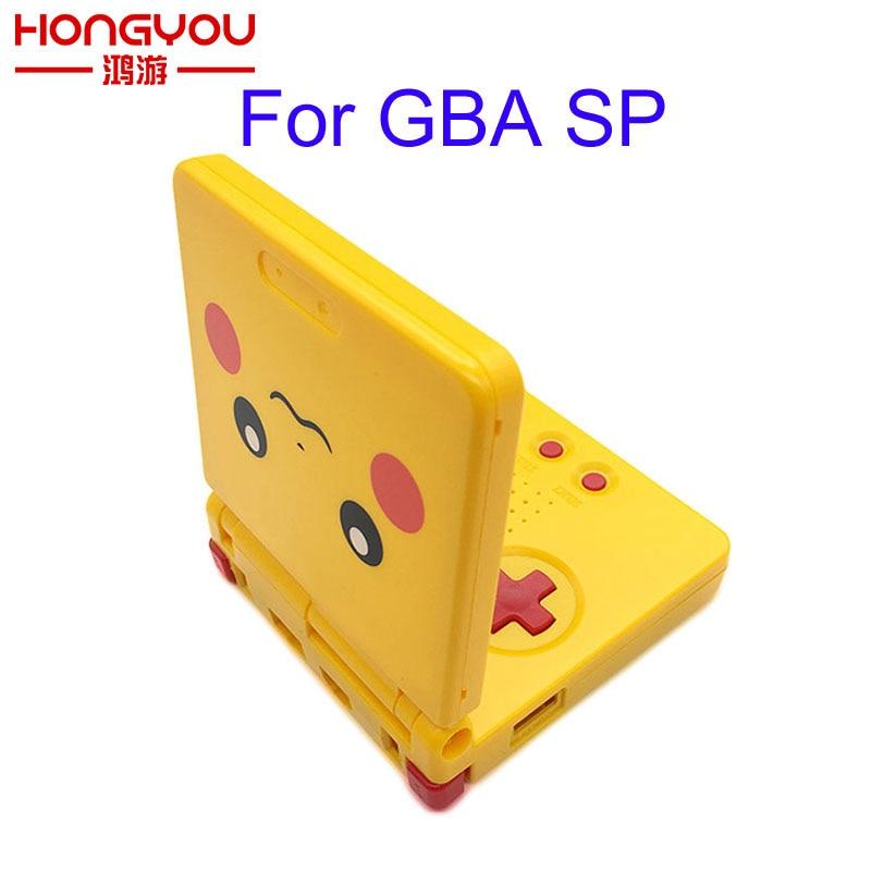 Piezas de Repuesto de 5 uds, carcasa completa protectora, funda protectora para GameBoy Advance SP/GBA SP, funda