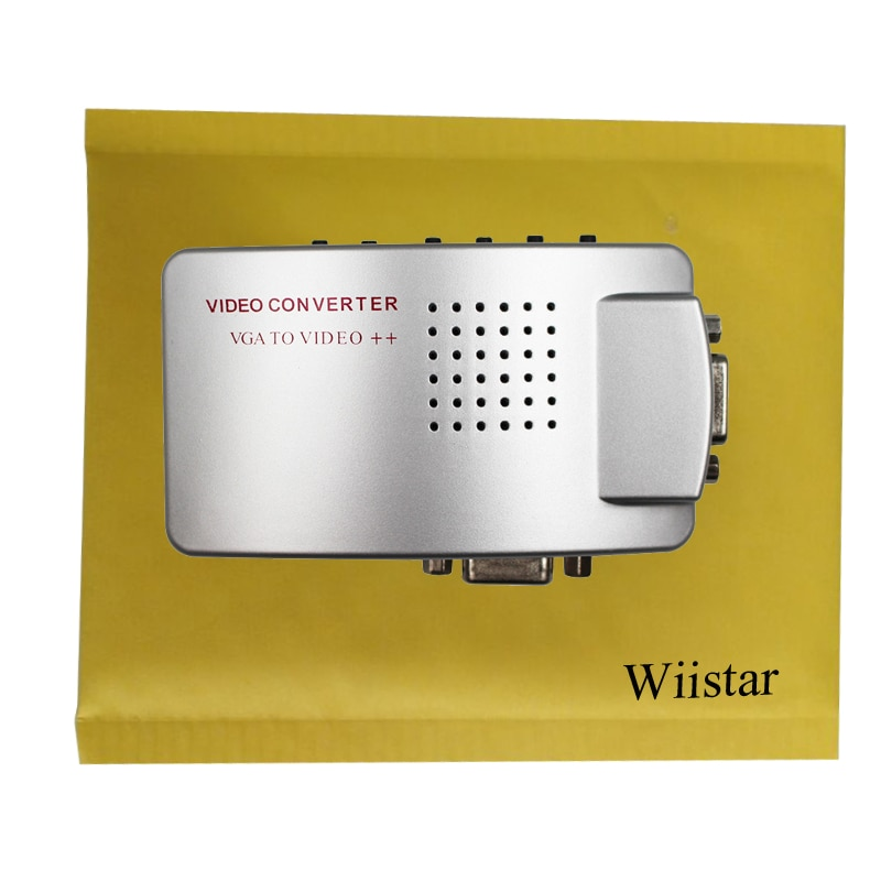 Premium PC Laptop VGA to AV RCA TV Monitor S-video Signal Adapter Converter VGA2AV Switch Box enlarge