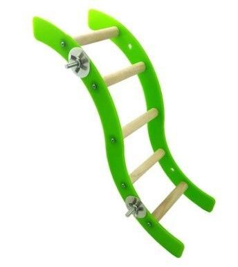 La escalera soporte arrastrándose escaleras jaula pájaro juguete para loro guacamayo grises africanos periquitos periquito Cockatiel jaula juguete