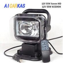 AICARKAS-lampe de recherche au xénon caché 12V 55W 6000K   Avec Base magnétique, faisceau de lumière IP65 au xénon blanc pour voiture SUV hors route