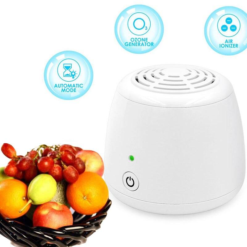 Mini Purificador de Ar ionizador de Ozônio Gerador de ozônio O3 Purificadores de Ar Fresco a Conservação de Alimentos Frescos para Geladeira Geladeira Banheiro