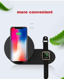 Fast Wireless Charging Charger for iPhone XS MAX Samsung S8 S9 Plus Wireless Charger for Samsung Gear S2 S3 S4 wacth charger