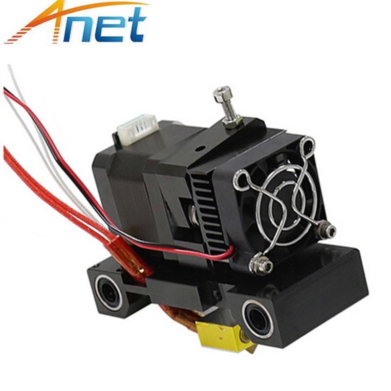 Extrusora Anet A6 A8, pieza de impresora 3D, cabezal MK8, Extrusor de boquilla Hotend de un solo cabezal en forma de J, boquilla Extra de 1,75/3mm, Motor de 42 pasos