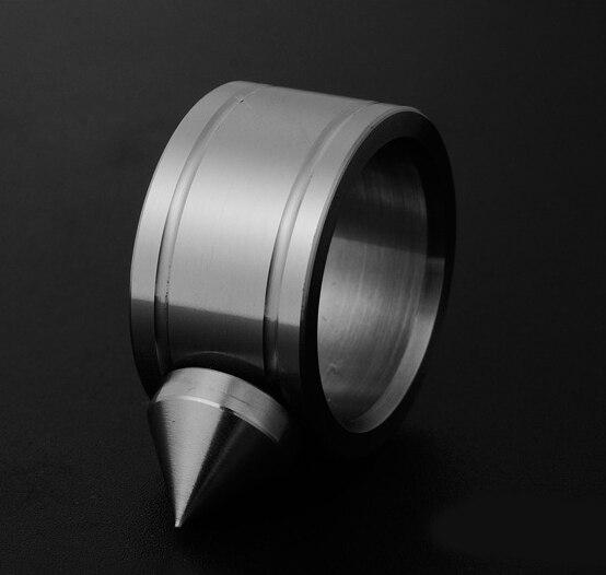 5 pces por lote auto defesa liga anel dedo defesa anel colar ferramenta 2 cores