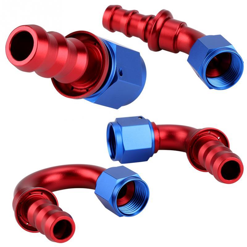 AN8 recto 0 45 90 180 grados Push On Twist Lock aceite Gas combustible línea manguera extremo macho aceite portagoma