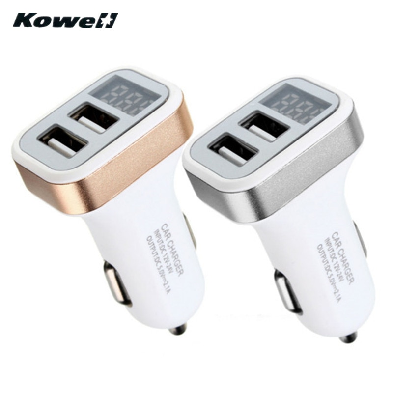 KOWELL 12 V 3.1A 2USB Portas Duel Carregador de Energia Adaptador de Tomada de Isqueiro do Cigarro Soquete Splitter Car Auto Moto Acessórios