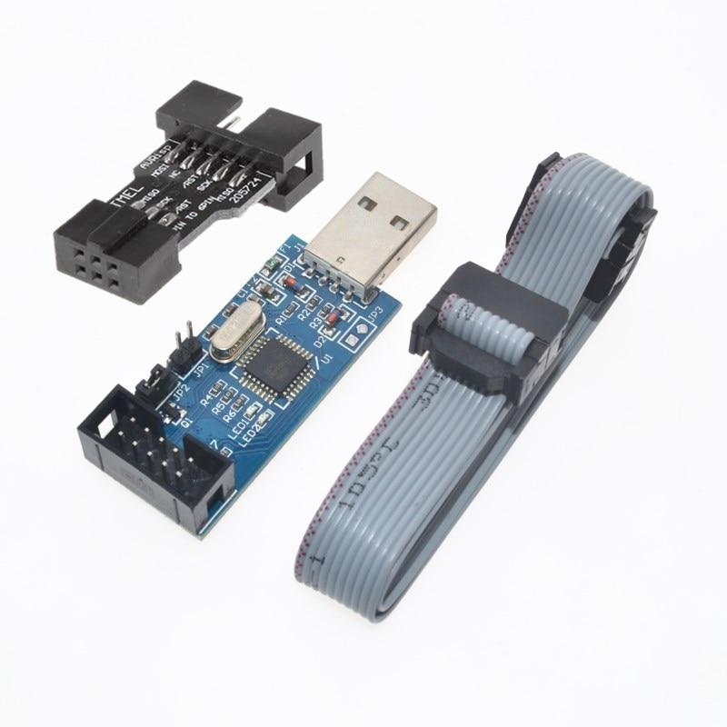 2 PCS = 1PC SBASP USB AVR Programmierer für Atmel USB ASP USBISP ISP Bootloader NEUE + 1PC 10PIN ZU 6PIN ADAPTER WAVGAT