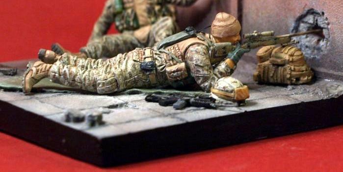 135 escala moderno francotirador americano miniaturas Kit de modelismo de resina figura envío gratis
