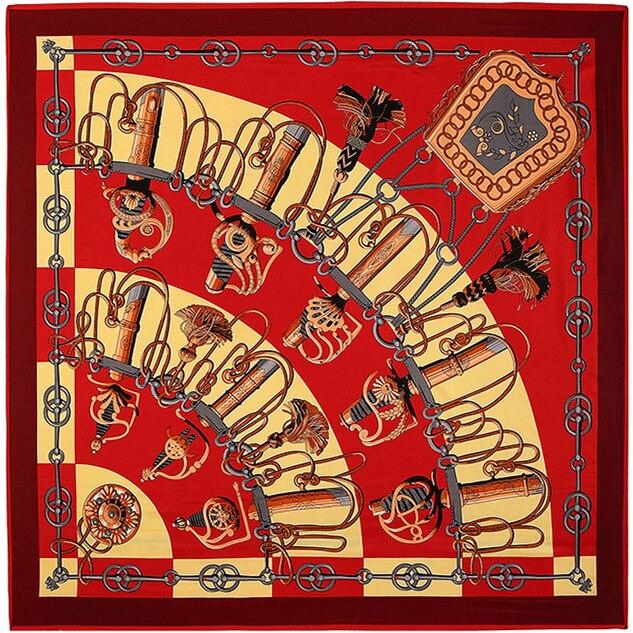 Caliente 130*130 cm mujeres nueva moda Cachemira telas cuchillo patrón seda bufanda cuadrado alta calidad chal bufandas