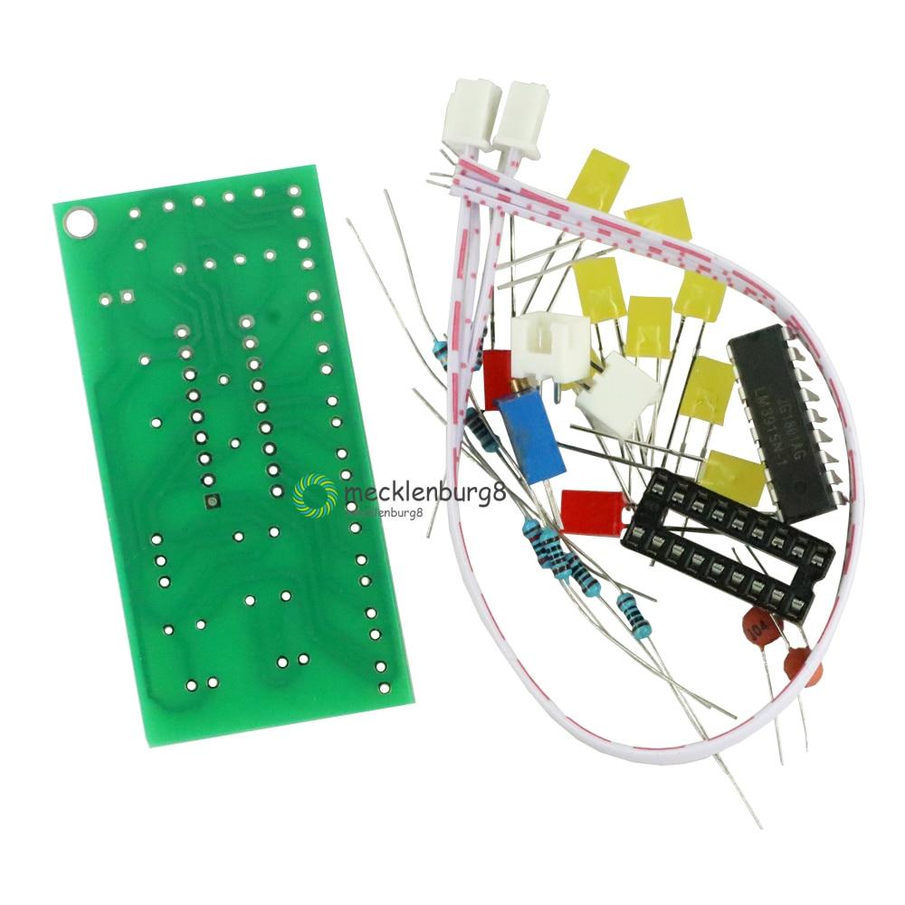 Funny 10-band Audio Level Indicator LM3915 Band / Dot Indicator DIY Kit Suit 9V-12V DC for Arduino