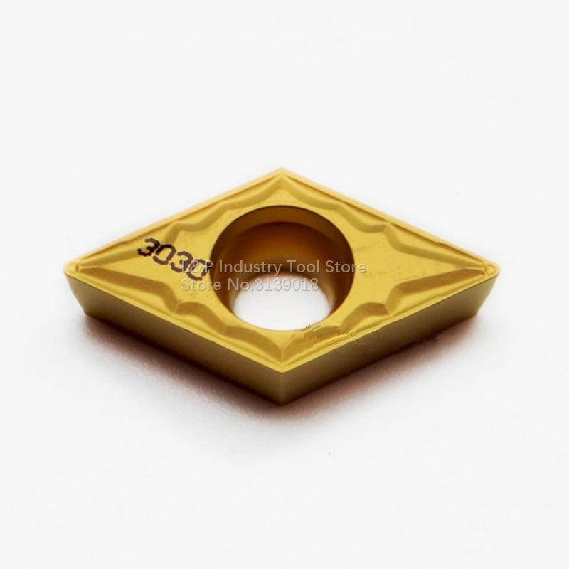 حقيقية كربيد إدراج DCMT070204-HMP NC3030 باستخدام الحاسب الآلي طلاء تحول لوحات الصلب DCMT 070204 أدوات آلة لقطع المعادن