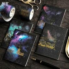 Carnet de notes Galaxy Mini format carré/blanc/Plan hebdomadaire/cahier Portable ordonné passeport taille balle Journal bloc-notes