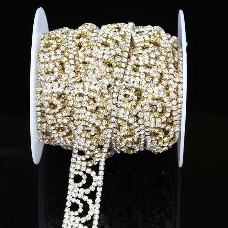 5Yards Diamante Strass Rhinestone Chain Crystal Claw Rhinestone Cup Chain Trims DIY Crafts