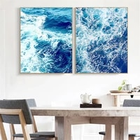 big ocean nordic posters and prints coffee wall art canvas painting sea ocean wall pictures for living room decoration