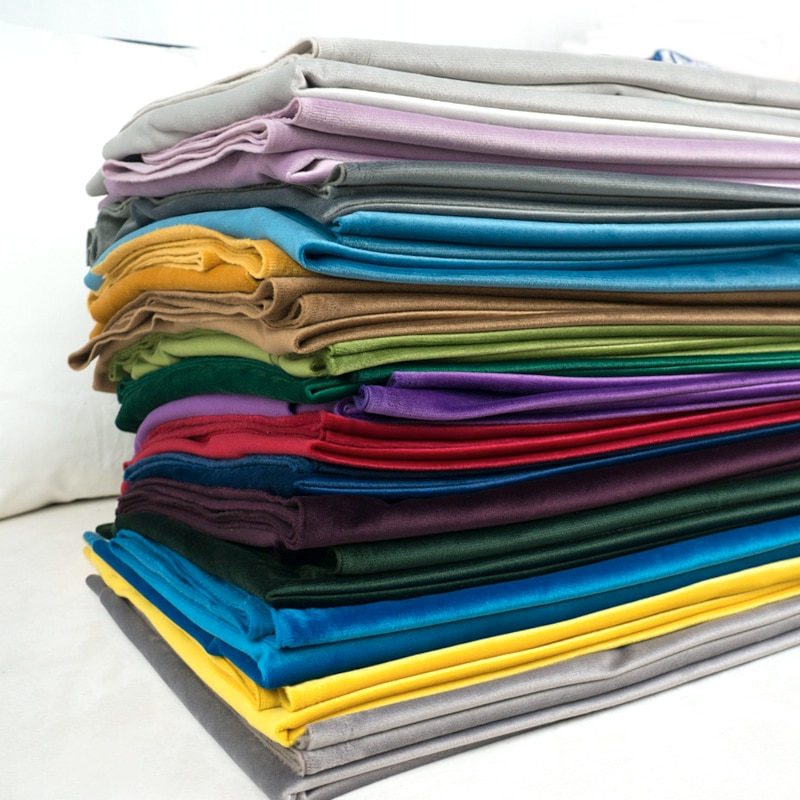 280 см ширина в ширину шелковая бархатная ткань велюровая ткань Скатерть занавеска подушка ткань красный синий коричневый зеленый розовый фиолетовый