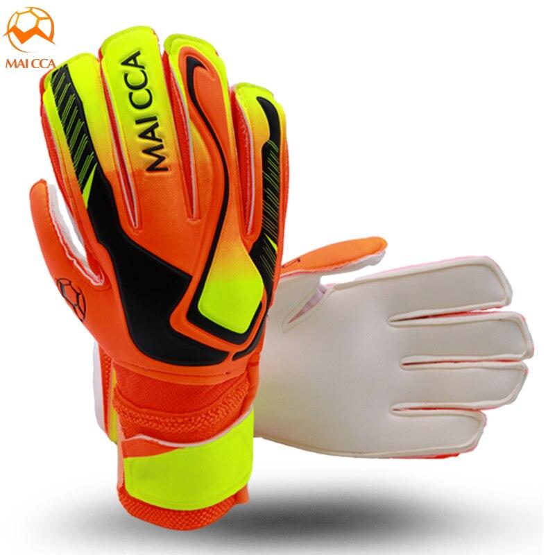 Guantes de portero profesionales de fútbol, guantes de portero de látex suaves con protección para los dedos