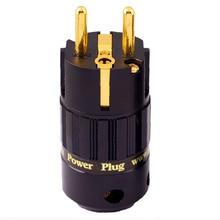 MPS Hercules-eu HiFi EU cable conector de alimentación AC adaptador 24K chapado en oro de alimentación hembra amplificador de conector 15A enchufe