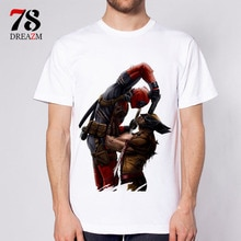 Deadpool t shirt mode piscine morte anime t-shirt hommes t-shirt vêtements homme S-3XL haut blanc t-shirts