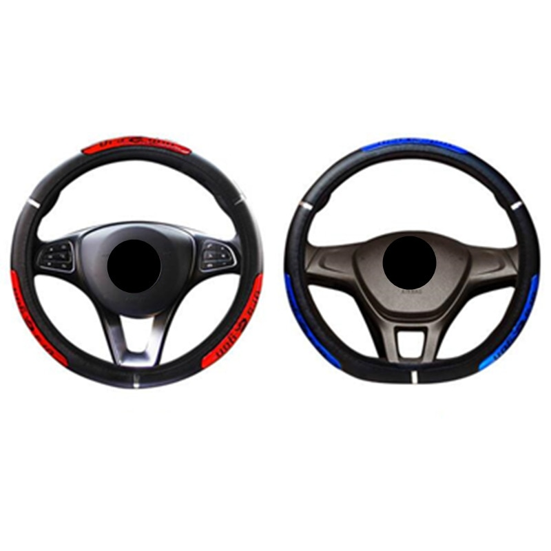 DERMAY Drangon Design Leather Auto Car Steering Wheel Cover 36-38CM Universal D Style Round Anti-cat