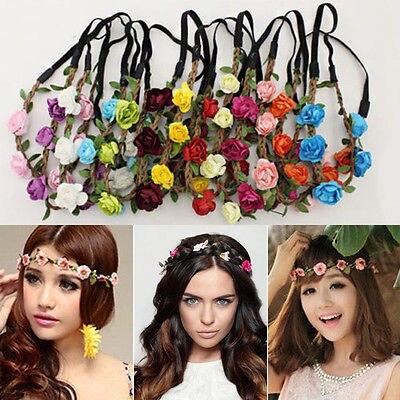 Handmade Coroa Floral Headband Da Flor de Cabelo Guirlanda Casamento Headpiece