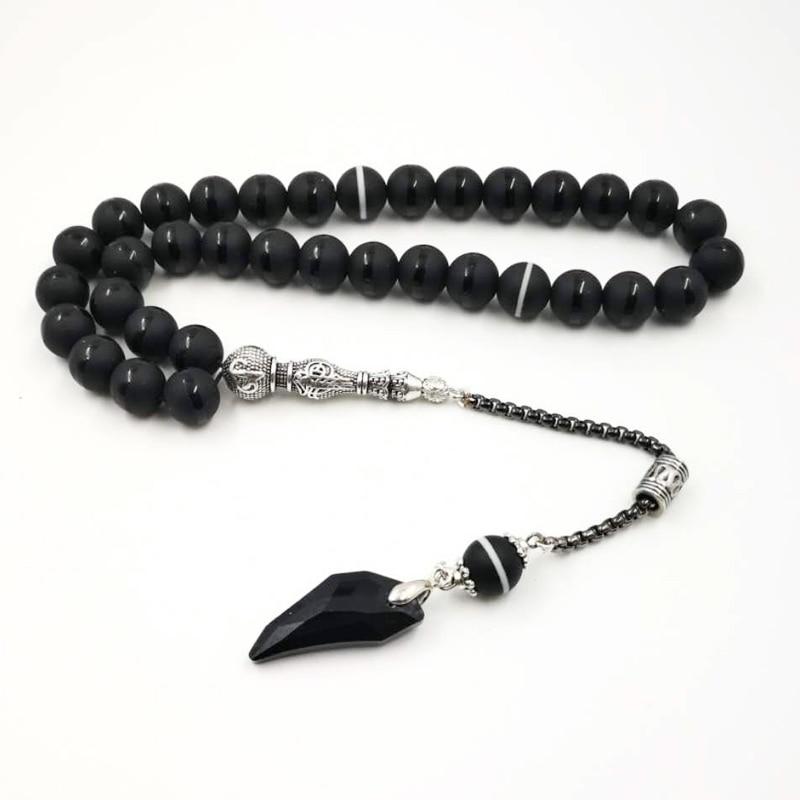 Crystal Tasbih and agates tassel Popular style Black Crystal Muslim prayer beads 33 66 99Misbaha beads Islam Rosary Islamic gift
