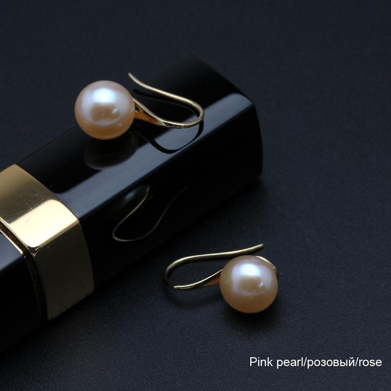 Real 18k gold natural stud pearl earrings jewelry women,au750 freshwater pearl earrings wedding fine jewelry Christams gift