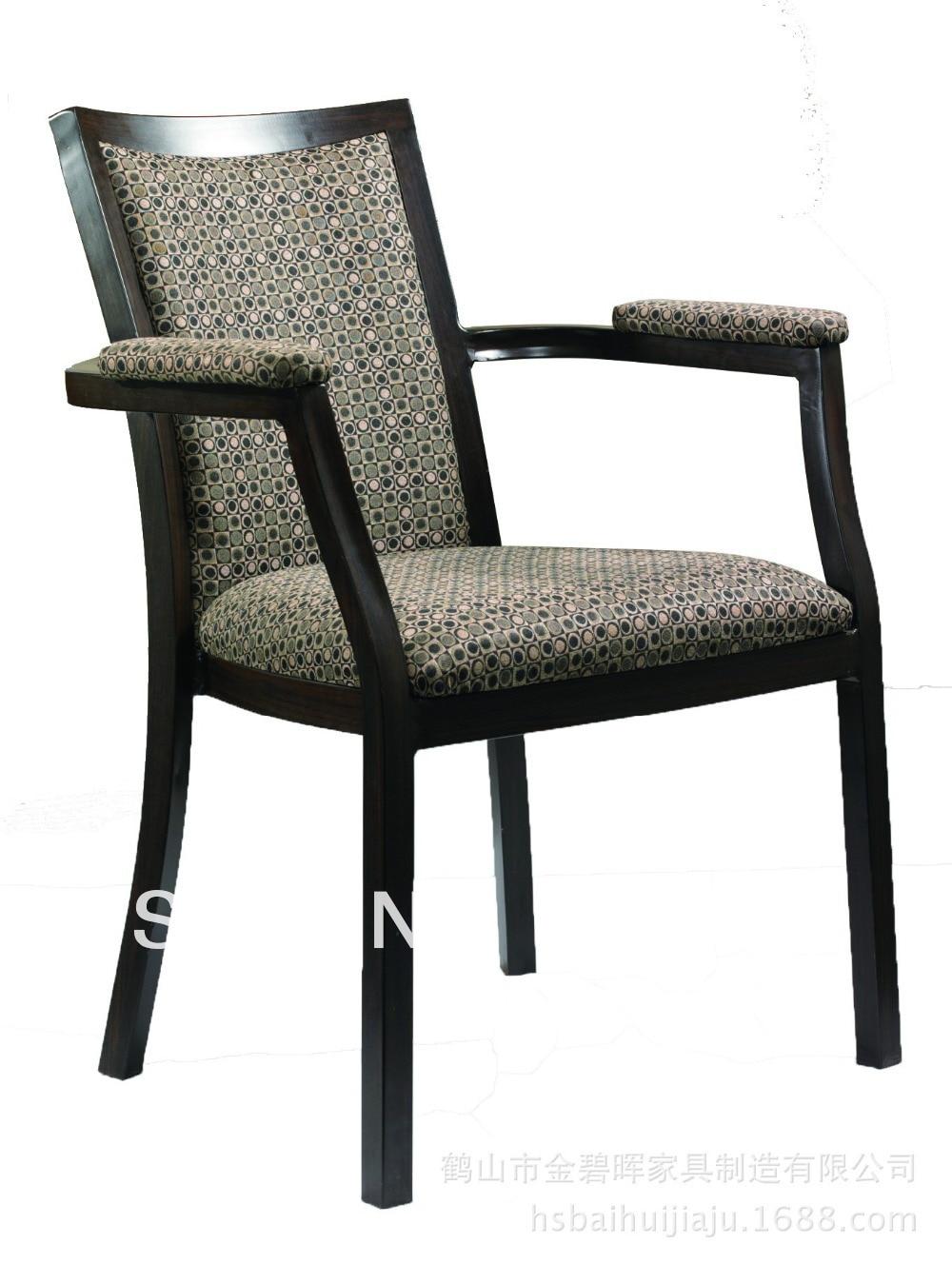 تكويم الخشب تقليد الألومنيوم مأدبة كرسي ، الثقيلة النسيج مع مقاومة فرك عالية ، مريحة