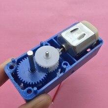 K210Y DC1.5-6V 1: 94 Mini elektryczny skrzynia redukcyjna DC motoreduktor dwuosiowy wyjście dla robot diy silnik samochodowy części do zabawek