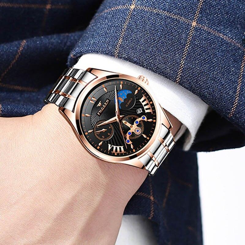 Men Watch Non-Mechanical  Steel Strip Quartz Watch Mens Waterproof Luminous Casual Watches Quartz Movement Tide Fashion Watches