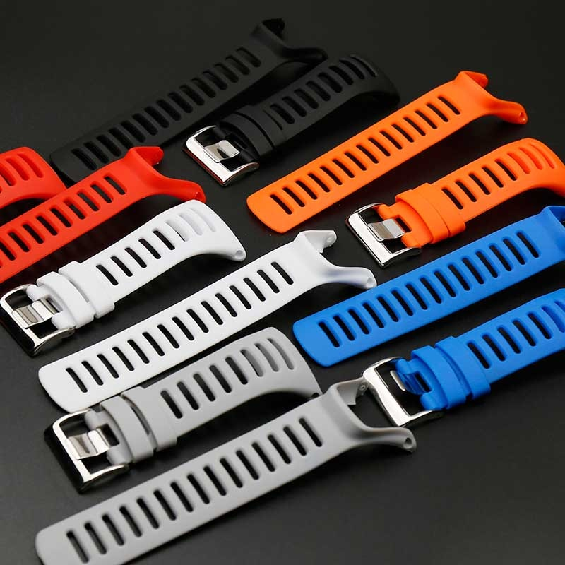 Outdoor sports waterproof rubber strap men and women pin buckle for SUUNTO Ambit1 2 3PEAK silicone strap watch accessories