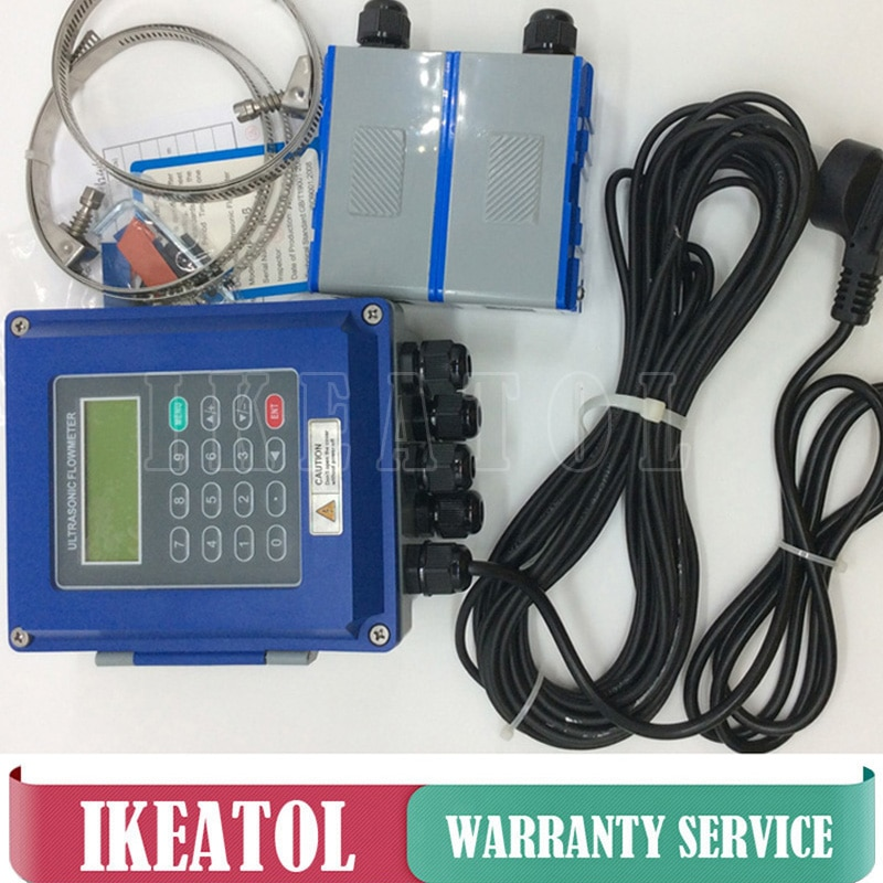 TUF-2000B-TL-1 (DN300-6000mm) with heat sensor PT-100 (CT-1) ultrasonic liquid flow meter flowmeters