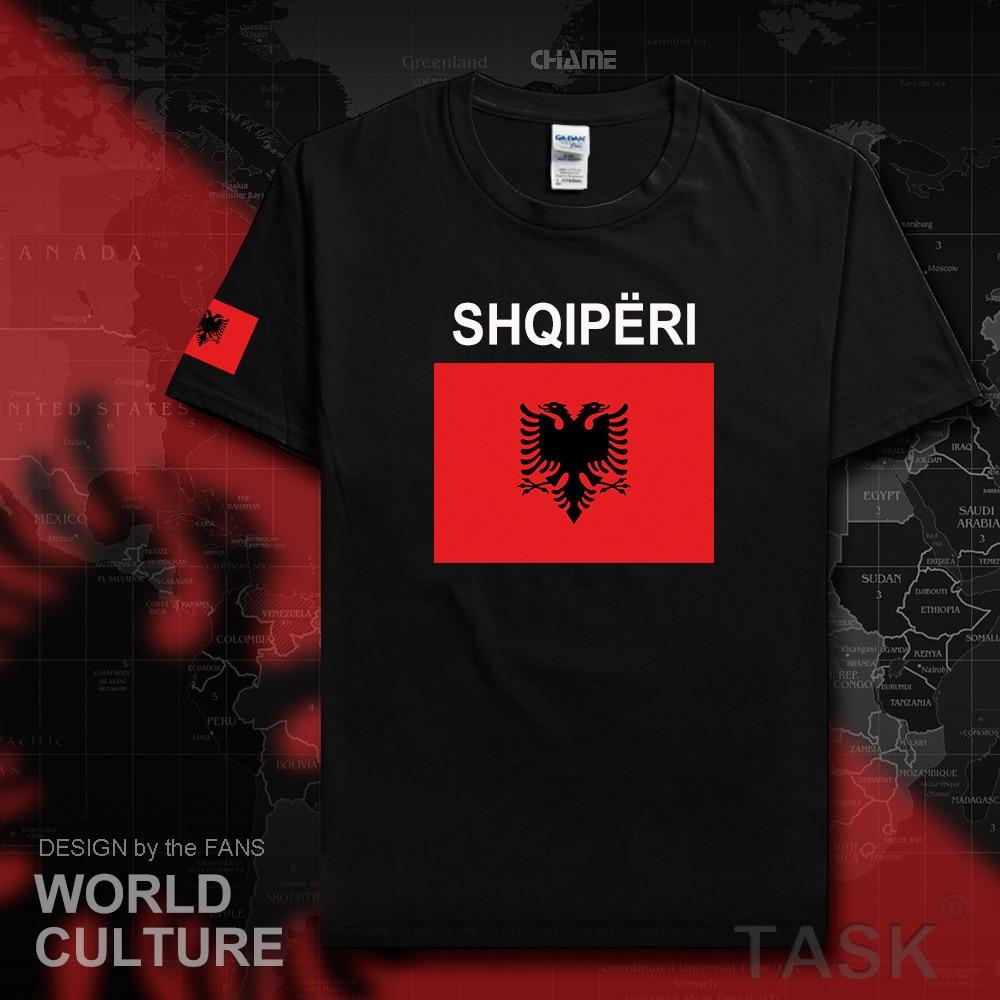 Republic of Albania ALB Albanian men t shirts 2017 jerseys nation team tshirt 100% cotton t-shirt clothing tees country sporting