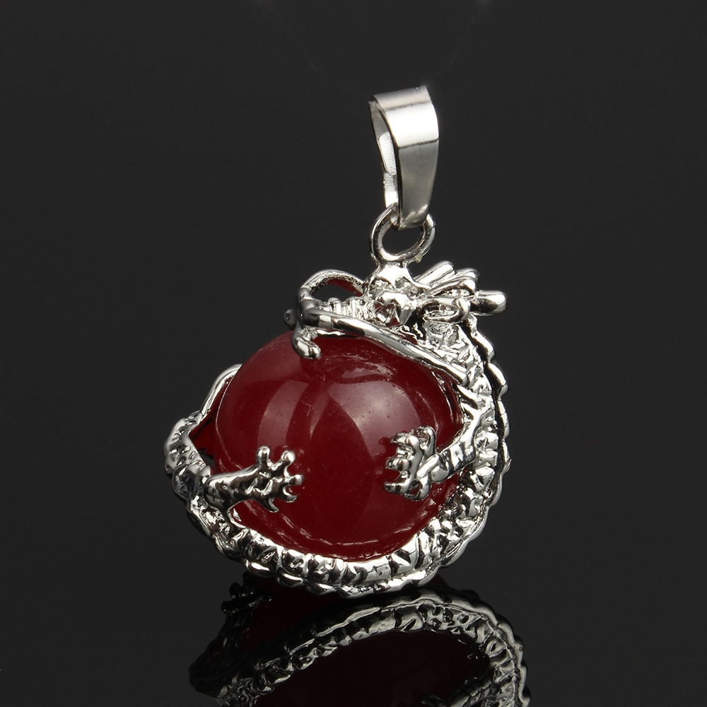 2019 New Natural Gem stone Dragon Pendants Quartz Green Aventurine Blue Sand Stone Crystal Opal necklaces pendants Jewelry