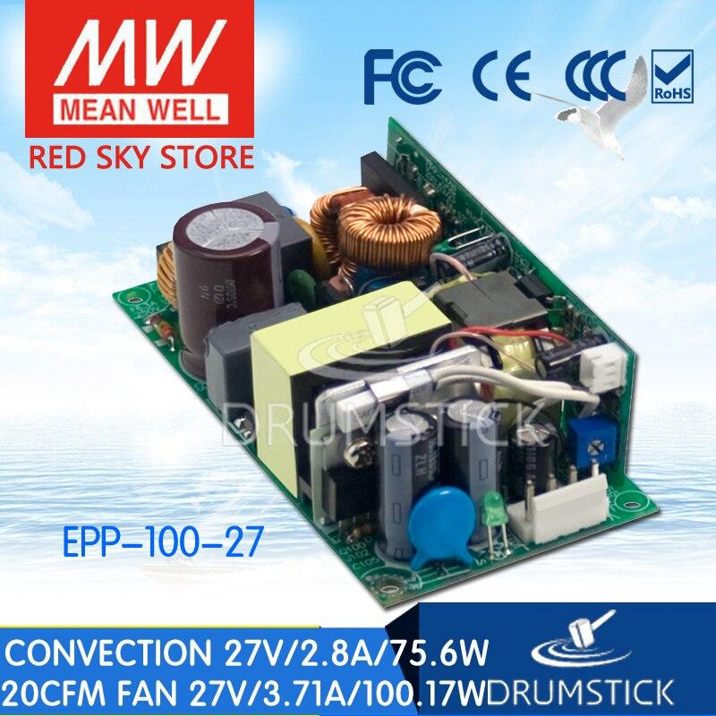 La prosperidad MEAN WELL EPP-100-27 27V 2.8A meanwell EPP-100 salida única de 27V 75,6 W con función PFC