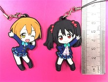 Love Live Kotori Anime porte-clés Nico Rin Umi Maki Chika Riko Yoshi Kunikida Kanan bracelet en caoutchouc/breloque de téléphone G521