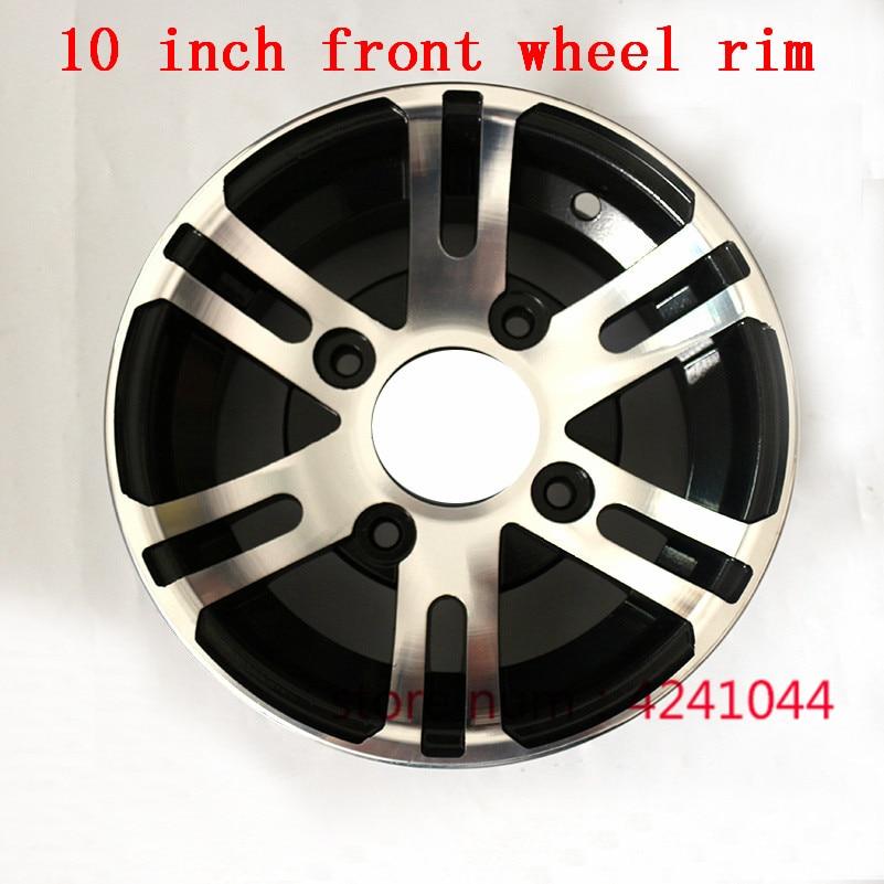 """Jantes de liga de alumínio para pneu atv, jantes dianteiros de 10 """"x 8 quad chinês off-road 4 rodas motocicleta cubo de roda de motocross"""