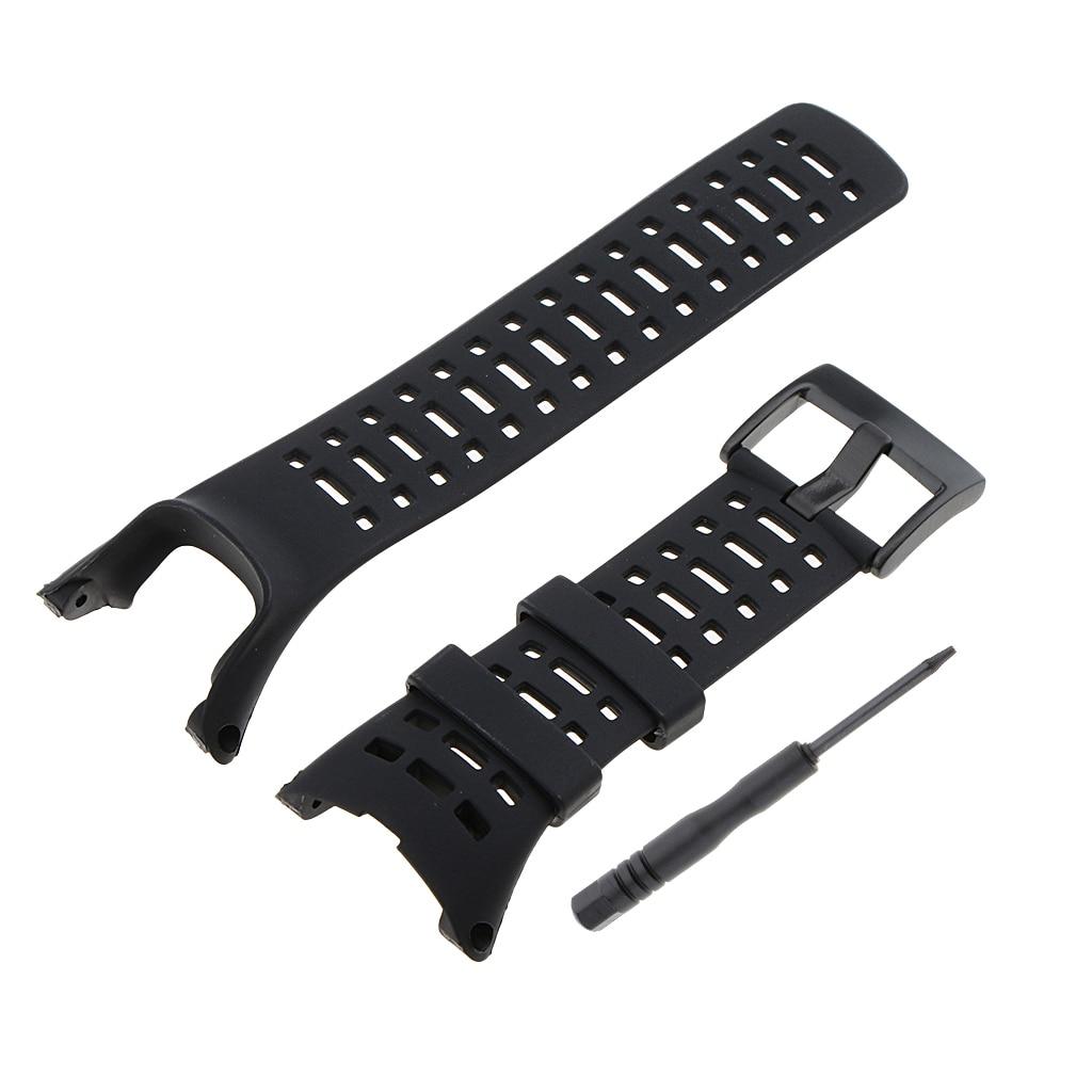 Phenovo pulseira de silicone para suunto ambit1/ambit2/ambit3 macio relógios acessórios preto
