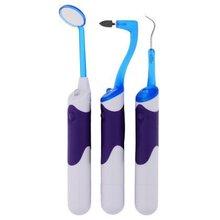 Führte oralen zahnärztlichen hygeine reinigung tool-kits- dental Spiegel + plaque entfernen + zahn fleck radiergummi