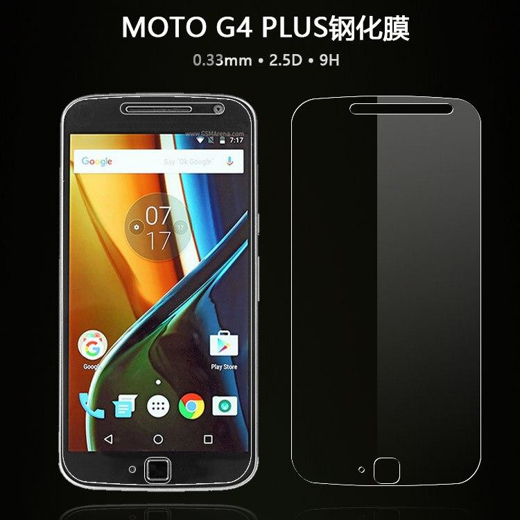 Para Motorola Moto G4 más XT1644 XT1640 XT1641 XT1642 XT1643 2.5D 9 H Protector de pantalla de cristal templado de película de vidrio