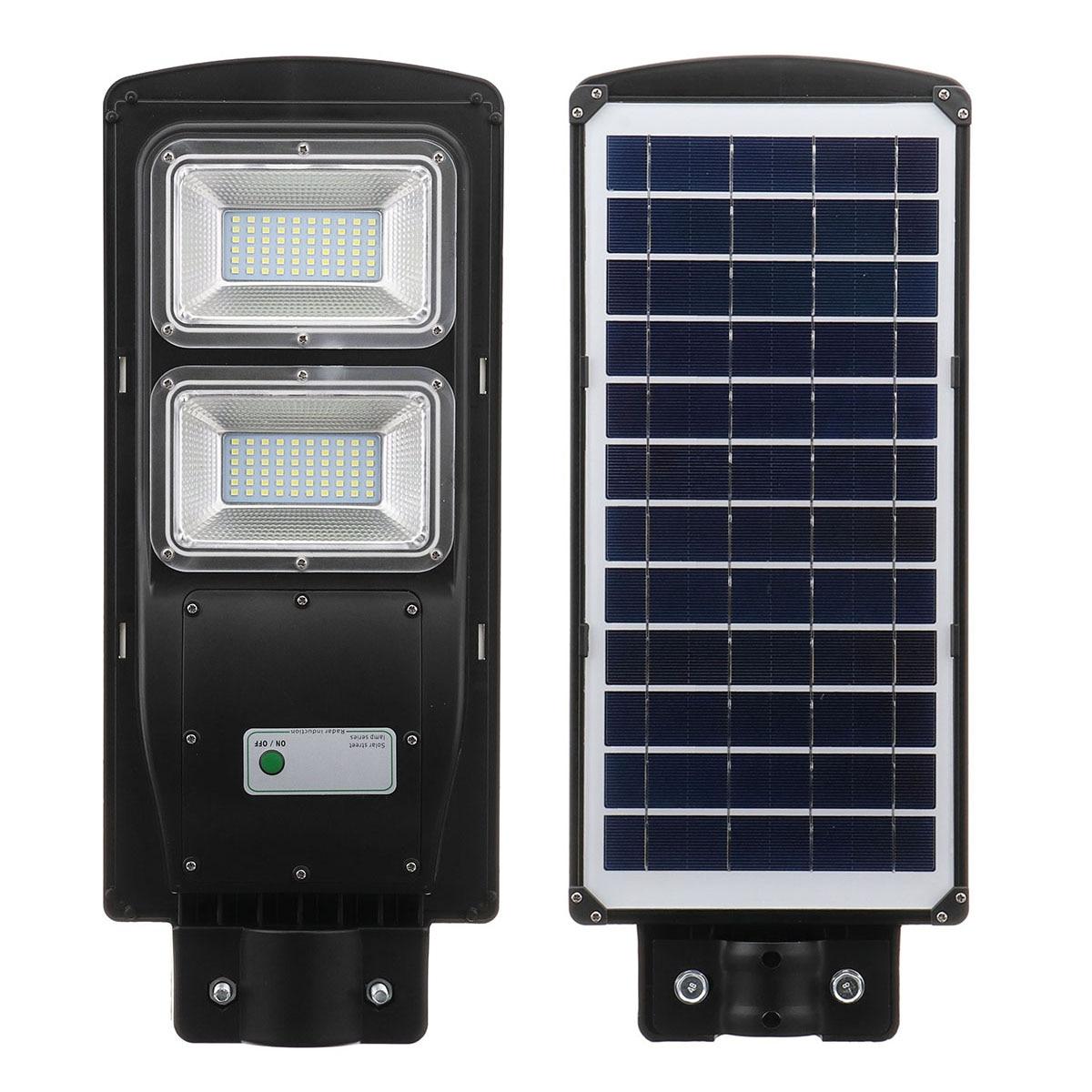 60W LED Solar Lamp IP67 2835smd Solar Powered Street Light for Hone Garden Wall Lamp Radar Sensor Outdoor Courtyard lighting