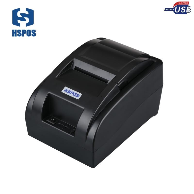 Impresora térmica de recibos pequeña de 58mm windows10, impresora térmica de recibos con impresora térmica de alta calidad para Stock de tienda, Impresión de facturas