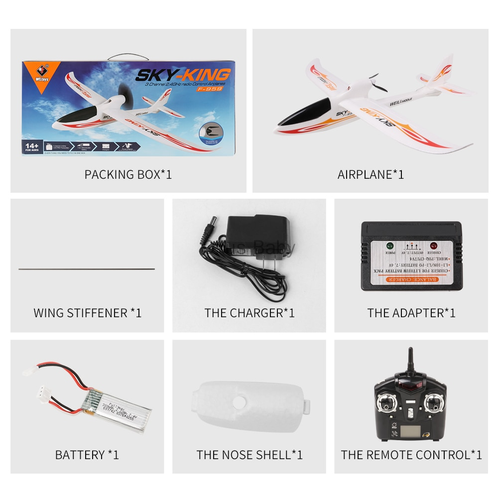 Brand New 2.4G 3Ch RC Airplane Fixed Wing Plane Outdoor toys Drone For Gifts enlarge