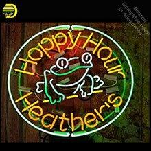 Neon Borden voor Happy Hour Neon Light Sign Kikker Heathers Handgemaakte arcade Neon Lamp Lampen Commerciële Versieren Kamer Clear Board