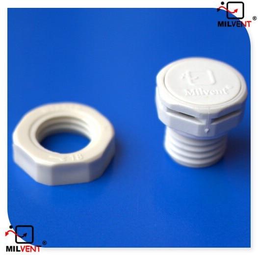 Milvent avançado led iluminação respirador impermeável ip 67 protetor m12 parafuso em respiradouros de ar plug com anel de bloqueio