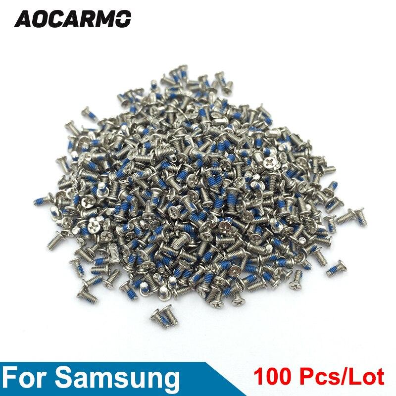 Aocarmo 100 шт./лот Замена 1,4*3,5 мм Внутренняя Материнская плата рамка винт для Samsung Galaxy S3 S4 S5 S6 S7 Note3 Note4 Note5