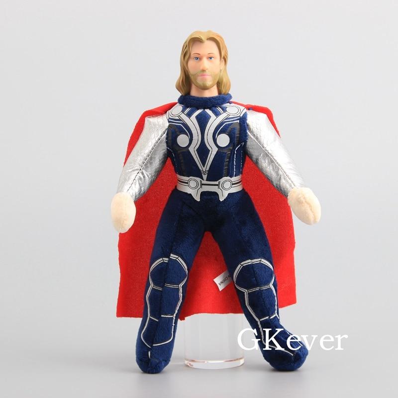 "Movie Dolls Super Heros Figure Thor Soft Plush Toy Thor with Plastic Head Stuffed Dolls 10"" 25 cm Children Gift"