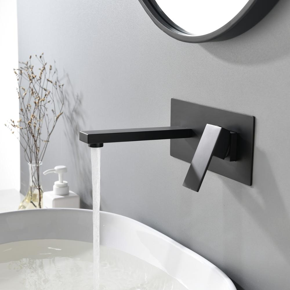 المطبخ الحمام رائعة الحائط دش صنبور الحنفية ماتي الأسود صنبور